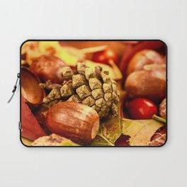 Arbores autumnales effectu Laptop Sleeve