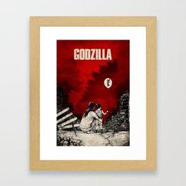 Godzilla. Framed Art Print