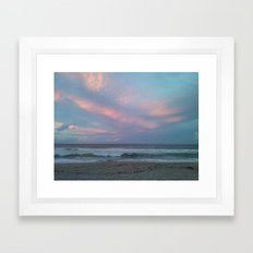 Fire Opal Sky Framed Art Print