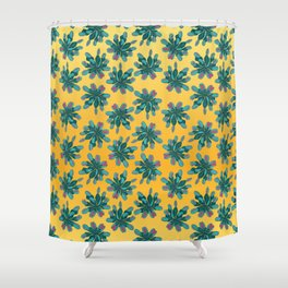 Venus Fly Trap on Gold Field Shower Curtain