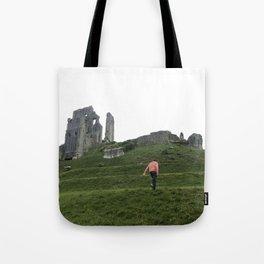 Corfe Castle Wanderlust medieval Tote Bag