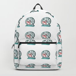 Cute Funny Hamster Pattern Illustration Backpack
