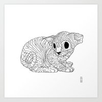 sphynx Art Prints featuring Sphynx  by Camelo