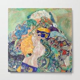 Klimt - Baby Cradle - Nursery Decor - Wall Art Metal Print