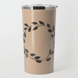 Simple Wreath on Hazelnut Travel Mug