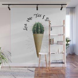Ice Cream Cactus Lick Me Wall Mural