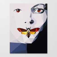silence of the lambs Canvas Prints featuring Silence of the Lambs - Low Poly by Camilo