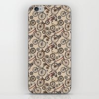bicycles iPhone & iPod Skins featuring Bicycles by Mario Zucca