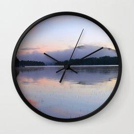 Tranquil Morning in the Adirondacks Wall Clock