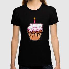 Birthday Celebration Gift Gothic Skull Cupcake Birth Anniversary T-shirt