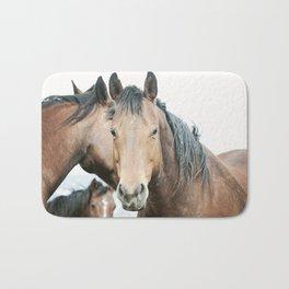 Rugged Country Horses Bath Mat
