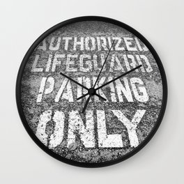 Lifeguard Parking Space Wall Clock