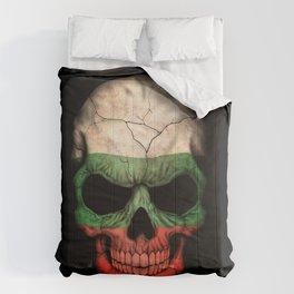Dark Skull with Flag of Bulgaria Comforters