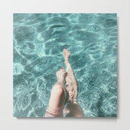 Pool Legs Metal Print