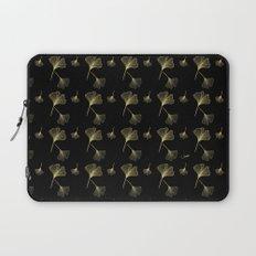Ginkgo Black Gold Laptop Sleeve