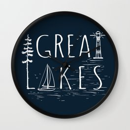 Great Lakes Wall Clock