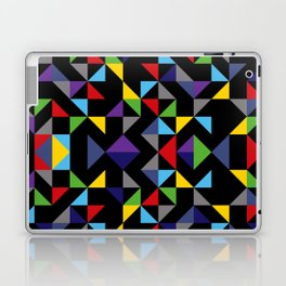 Geometric Pattern Colorful, black background. Good vibes by Cokowo. Laptop & iPad Skin
