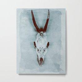 The haunted deer skull Metal Print