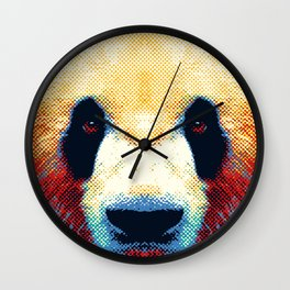 Panda - Colorful Animals Wall Clock