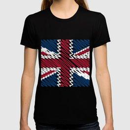 united kingdom flag drawn with pen T-shirt