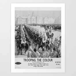 retro old Trooping the Colour poster Art Print