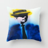 suits Throw Pillows featuring SUITS by Clay Bakkum