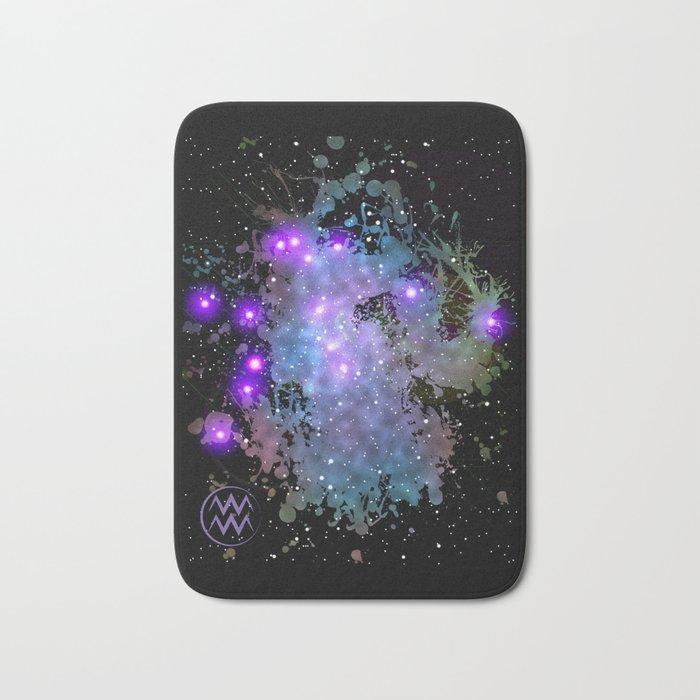 The Zodiac Sign -- Aquarius Bath Mat
