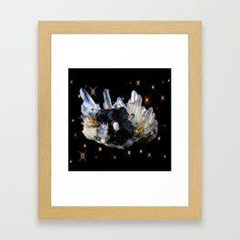 Star Aura Quartz Framed Art Print