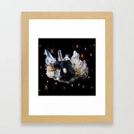 Star Aura Quartz Framed Art Print