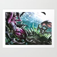 warcraft Art Prints featuring Apocalypse by Steuer Catherine
