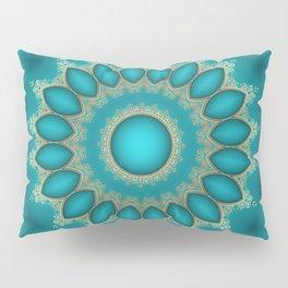Turquoise Jewels Pillow Sham
