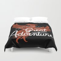 dumbledore Duvet Covers featuring Great Adventure by WEAREYAWN
