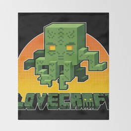 Minecraftian Throw Blanket