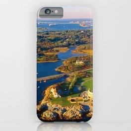 The Waves Mansion and Newport Bridge, Newport, Rhode Island iPhone Case