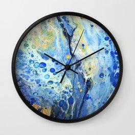 Ocean Breeze Meets Falls Beauty Wall Clock