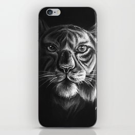 """White Tiger"" Drawing iPhone Skin"