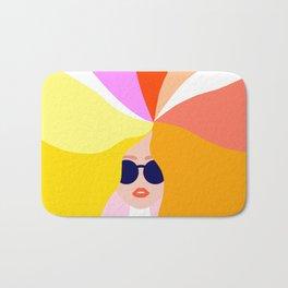 Girl Power - Rainbow Hair #girlpower Bath Mat