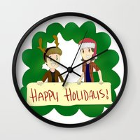 supernatural Wall Clocks featuring Supernatural by Brittany's Drawings and Doodles