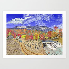 Carolina Autumn Day 3 Art Print
