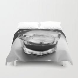 Timeless | Modern abstract black white coffee ice photography Duvet Cover