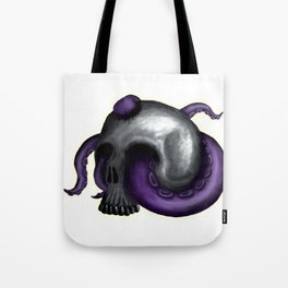 Octopus in Skull - No Background Tote Bag