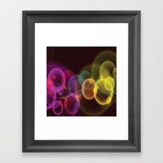 Rainbow Bubbles Design Framed Art Print