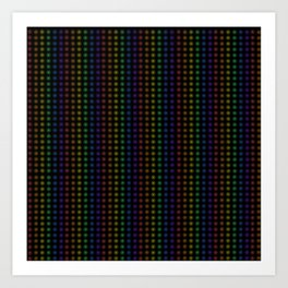 Rows of Rainbow Flowers Art Print
