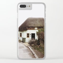 Thatched Cottage in the English Countryside Clear iPhone Case