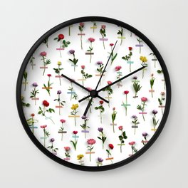Bloom Where You Are Planted Wall Clock