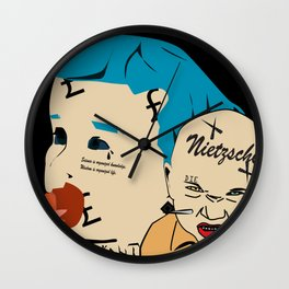 Kant and Nietzsche Wall Clock