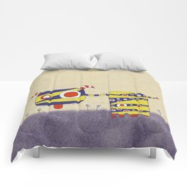 Purple Blah Comforters