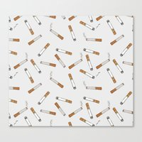cigarettes Canvas Prints featuring Cigarettes by Abby Galloway