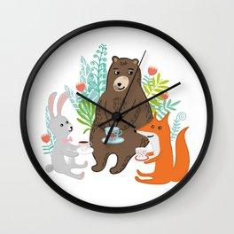 woodland teatime Wall Clock