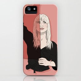 Rose-Colored Girl iPhone Case